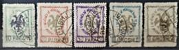 ALBANIA 1913 - Canceled - Sc# 27-33, Mi 24-28 - Complete Set! - Albanie