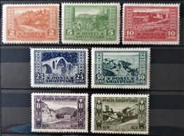 ALBANIA 1923 - MLH - Sc# 147-153, Mi 83-89 - Complete Set! - Albanie
