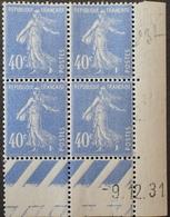 R1189/392 - 1931 - TYPE SEMEUSE CAMEE - BLOC - N°237 TIMBRES NEUFS** CdF Daté - 1930-1939