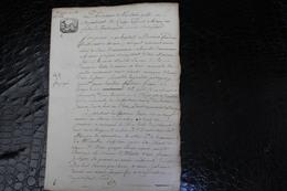D-N / T7 /  Acte Notarié Sur Parchemin, Testament - Enregistré A Hirson Octobre 1806 ? - Manuscrits