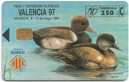 Spain - Telefónica - Valencia'97, Ducks - P-259 - 04.1997, 6.100ex, Used - Espagne