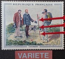 R1949/1683 - 1962 - COURBET - N°1363 NEUF** - LUXE - VARIETE ➤➤➤ Bâton Double - Varietà E Curiosità