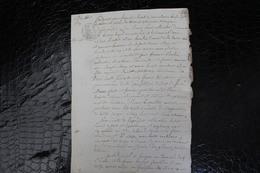 D-N / T5 /  Acte Notarié Sur Parchemin, Testament - Vente - Enregistré A Hirson Octobre 1806 ? - Manuscrits
