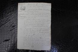 D-N / T4 /  Acte Notarié Sur Parchemin, Testament - Vente - Enregistré A Hirson Octobre 1806 ? - Manuscrits