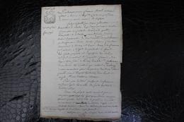 D-N / T8 /  Acte Notarié Sur Parchemin, Testament - Vente - Enregistré A Hirson Octobre 1806 ? - Manuscrits