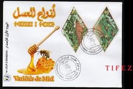 FDC/Année 2018-N°1822/1823 : Variété De Miel     (2 C.) - Algeria (1962-...)