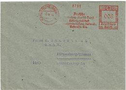 LCTN59/ALS 2 - ALSACE LORRAINE - AFFR.T MECANIQUE SUR LETTRE KARLSRUHE / STRASBOURG 11/10/1944 - Alsazia-Lorena