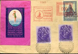 50140 Hungary,special Card 1938 Red Meter Freistempel Siofok IV Nemzetkozi Sporthet Propaganda Belyegkiallitas - Hojas Completas