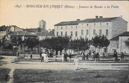 C.P.A. - FR.  [69] Rhône > Soucieu-en-Jarret - Joueurs De Boules à La Flette - Très Animée - Daté 1910 - TBE - France