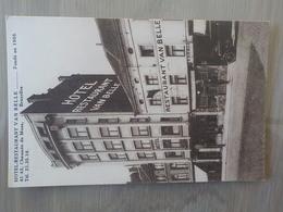Ancien CP Animée Bruxelles Anderlecht Chaussée De Mons Hôtel Restaurant Van Belle Plan Au Dos - Anderlecht