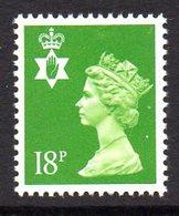GB N. Ireland 1971 18p Green Regional Machin, Centre Band, P. 14, MNH (SG 47a) - Northern Ireland