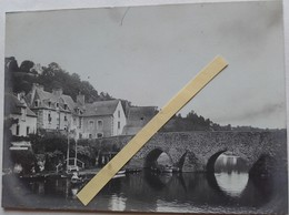 1900 Dinan Côte Du Nord La Rance Porte St Malo Vieux Pont Fontaine Le Chateu D'anne De Bretagne 6 Photos - Places