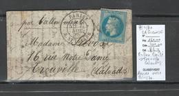 France - Ballon Monté - 07/11/70 - Pour TROUVILLE - Calvados - LA GIRONDE - - 1870 Siege Of Paris