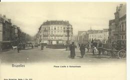 CP.Bruxelles-Schaerbeek (ex-Collection DELOOSE) - Place LIEDTS à Schaerbeek (charette Avec Cheval Et Tram à Cheval) - W0 - Schaarbeek - Schaerbeek