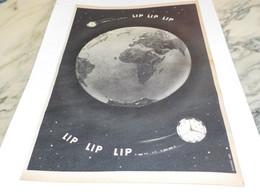 ANCIENNE PUBLICITE MONTRE LIP LIP LIP¨ 1957 - Bijoux & Horlogerie