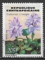 Central African Republic 1984. Scott #682 (U) Flower, Eichlornia Crassipes - Central African Republic