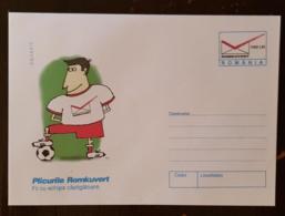 ROUMANIE Football  Entier Postal Illustré. Emis En  1998 Neuf. PLICURILE ROMKUVERT - Covers & Documents