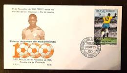 BRESIL Football, Soccer, PELE Yvert N° 914 FDC, Enveloppe 1 Er Jour.  1000 Eme But De Pelé. - Lettres & Documents