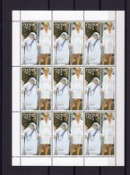 Bhutan 1997, Mother Teresa And Lady Diana, Sheetlet - Bhutan