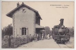 CPA De EVERGNICOURT La Gare L'arrivée D'un Train Sélection - France