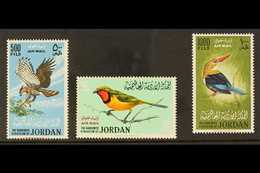 BIRDS  JORDAN 1964 Birds Airmail Set Complete, SG 627/9, Very Fine Never Hinged Mint. (3 Stamps) For More Images, Please - Timbres
