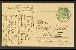 MUSIC  FELIX VON WEINGARTNER. 1908 (15 Jan) Austrian 5h Postal Card Posted Locally Within Vienna, Addressed With Message - Timbres
