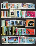 SPACE  1950's-1970's ALL DIFFERENT VERY FINE USED COLLECTION On Stock Pages With Many Complete Sets & Mini-sheets, All F - Timbres