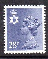 GB N. Ireland 1971 28p Violet-blue Regional Machin, Type I, MNH (SG 62) - Northern Ireland
