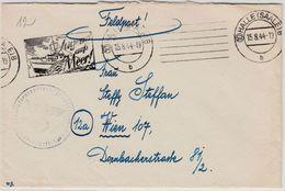 """DR - (10) Halle 1944, """"Jugend Aufs Meer"""", Masch.werbestpl. A. Feldpostbrief N. - Alemania"""