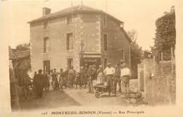 MONTREUIL  BONNIN  La Rue Principale - France