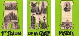 PUZZLE 1ER SALON DE LA CARTE POSTALE AMIENS 03-11 MARS 1979 REF 62232 - Sammlerbörsen & Sammlerausstellungen
