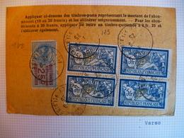 Bloc De 4 X 5 F Bleu Et Jaune Merson - 1900-27 Merson