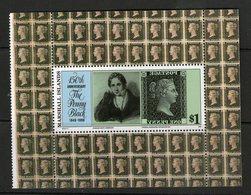 MARSHALL 1990 150 ANS DU TIMBRE BLOC DU CARNET  YVERT N°B10 NEUF MNH** - Marshall Islands