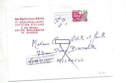 Lettre Cachet Retour  Sur Pre-oblitere Papillon + N'nabite + Muette Mulhouse - Marcofilie (Brieven)