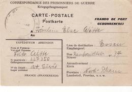 PRISONNIER DE GUERRE 40 45 ALLEMAND EN FRANCE CAMP LAGER 124 GIVET VERS ESSEN - Militaria