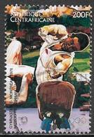 Central African Republic 1996. Scott #1117h (U) Past Olympic Medalist, Mitsuo Tsukahama, Gymnastics 1976 - Repubblica Centroafricana