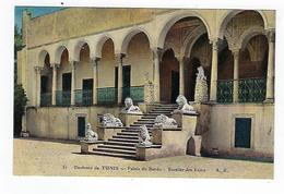 CPA -Tunisie - Environs De Tunis - Palais Du Bardo - Escalier Des Lions - Túnez