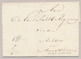 Nederland - 1 St Geschreven Op Omslag Naar De Regeering Van Den Helder En Huisduinen - ...-1852 Vorläufer