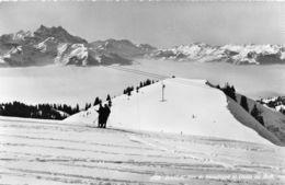 Bretaye, Mer De Brouillard Et Dents Du Midi - Skieurs - Arbalètes - Téléski - VD Vaud