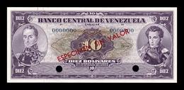 Venezuela 10 Bolívares 1963 Pick 45s Specimen SC UNC - Venezuela