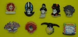 Fève   - Série Complète - Carnaval De Venise - Réf AFF  2003 37 - Masque - Personnages