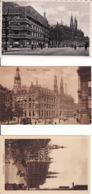 277267Amsterdam, Hoofdpostkantoor (3 Kaarten) (zie Hoeken En Achterkant) - Amsterdam