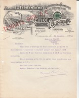 Lot 2 Factures Terrenoire (Loire) - Pitiot Terrat & Cie / Manufacture De Fourches - 1900 – 1949