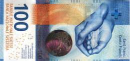 Suisse 100 Francs (Pnew) 2017 (Pref: R) Sig: Studer&Jordan -UNC- - Suiza