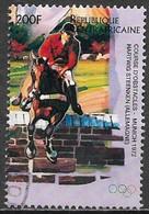 Central African Republic 1996. Scott #1117i (U) Past Olympic Medalist, Hartwig Steenken, Germany, Equestrian 1972 - Zentralafrik. Republik