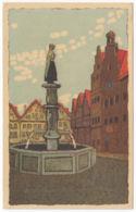 AK Wenau- Pastell, Stadtbrunnen, Künstler- AK, Nr. 1170, Ungel. - Künstlerkarten