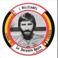 """Autocollant-football-Voetbal- Luc Millecamps-KSV Waregem-Espana 1982-Coupe Du Monde-Pub. """"La Dernière Heure-Les Sports"""" - Autres"""