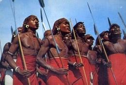 African Dancers - Formato Grande Viaggiata – E 14 - Cartoline