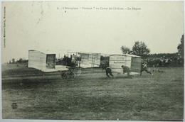 """L'AÉROPLANE """" FARMAN """" AU CAMP DE CHÂLONS - LE DÉPART - ....-1914: Précurseurs"""