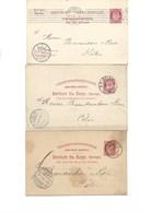 NORVEGE  - 3 ENTIERS POSTAUX -ANNEES 1900-1905 - Briefe U. Dokumente
